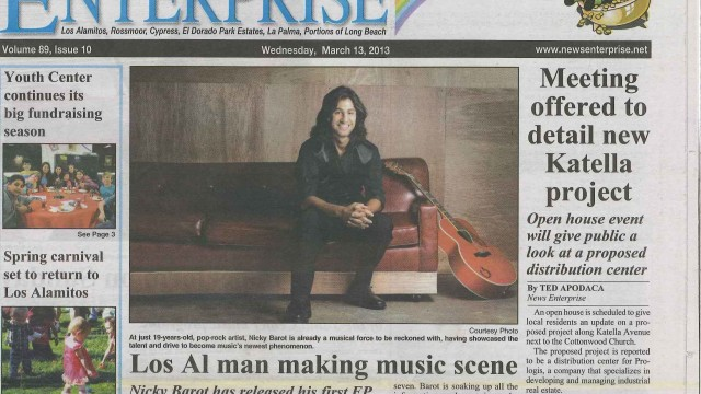 Nicky front page News Enterprise